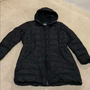 Women's North Face Goose Down Coat Black XL